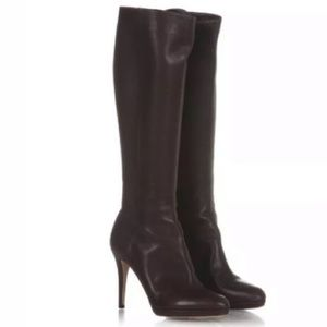 Jimmy Choo Brown Italian Leather Boots